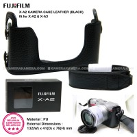 Jual FujiFilm XA-2 Leather Camera Case Black Original + Strap for X-A2 X-A3 Murah