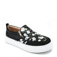 Sepatu Sneakers BRAND TRACCE Leather Shoes Casual Flower Bunga Katniss