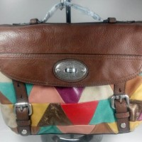 Fossil Maddox Patchwork Top Handle Bag Tas Wanita Original VA110