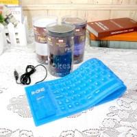 Keyboard Flexible Elastis Lipat Gulung Fleksible External USB Warna