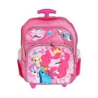 Jual troli tas sekolah Little pony anak perempuan TK troly dorong ransel Murah