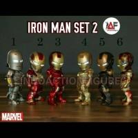 Action figure Iron Man Marvel Avengers chibi bukan kids logic LED set