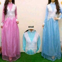 gaun pesta brokat dress pesta grosir baju pesta ori gamis pesta ori