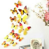 Jual Tempelan 3d kupu kupu, hiasan, wallsticker butterfly, pajangan dinding Murah
