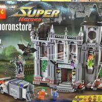 Lego Heroes 10937 Decool 7124 Batman Arkham Asylum Breakout 1619 Pcs