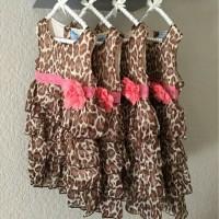 Jual Dress Leopard Pakaian Fashion Anak Perempuan Murah