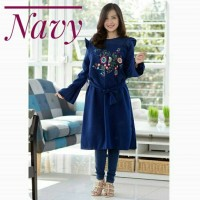 Jual Dress Simple Elegant Embroidery Tunic Murah