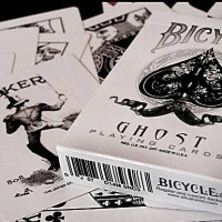 bicycle white ghost + bonus deck