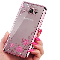 Samsung Note 3 4 5 S7 Edge soft case casing back cover hp TPU FLOWER