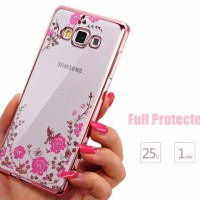 Samsung J7 Core 2015 soft case casing back cover ultrathin TPU FLOWER