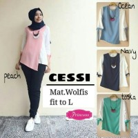 Baju Atasan Wanita Baju Murah Muslim Blus Tunik Hijab Kode Ic55026