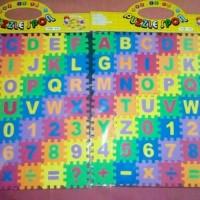 Jual Mainan edukatif anak puzzle spon rainbow huruf angka Murah