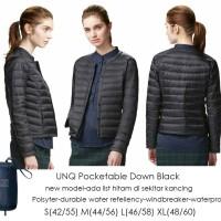 harga Uniqlo Puffer Jacket Unq Pocketable Down Black Tokopedia.com