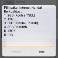 Kartu Perdana TELKOMSEL 4G bisa beli paket internet murah 30Gb = 65rb