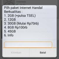 Kartu Perdana TELKOMSEL Simpati bisa beli paket internet 30Gb=65rb