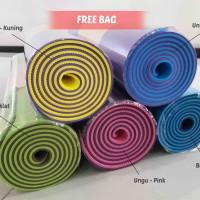Jual Matras Yoga TPE Yogamat Double Layer | Yoga Mat Dua Sisi | Senam Gym Murah
