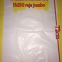 -/+19lmbr kantong plastik kresek HD50 PUTIH SUSU raja jumbo tebal kuat
