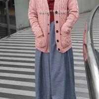 Jual TERLARIS Cardi Tumblr Series Dusty Pink - Cardigan Wanita - Outerwear Murah