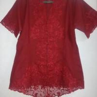 Jual Baju Kebaya Wanita Encim Modern Merah Maroon (NEW) nego Murah