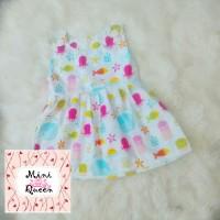 Jual Dress Katun Anak Overall Seaworld White Lucu Cerah Adem Murah Murah