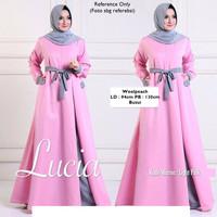 Gaun Cantik - Lucia Long Dress - Woolpeach - Gamis Muslimah - Pink