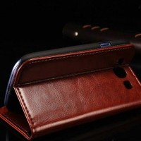 Wallet PU Leather Flip Case Book Cover Casing Samsung Grand Duos I9082
