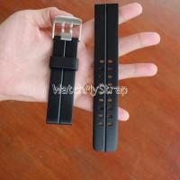 24mm Rubber strap tali karet jam tangan Luminox seiko orient dll