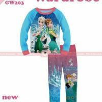 Harga baju tidur piyama anak perempuan cewek gw 203 k elsa anna | antitipu.com