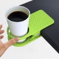 Jual New!! Plastic Table Coffee Cup Holder Cup Clip tempat minum meja Murah