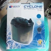 Mini Eksternal Filter Untuk Aquarium 40-60 CM Canister Resun CY20 Bio