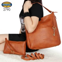 7934a5d86 Tas Fossil Corey Hobo Leather 2in1 COKLAT MUDA Semi Ori 2790