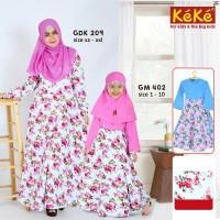 Baju Muslim Keke GDK 209 Gamis Syari Couple Ibu Anak Katun Jepang