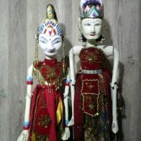 Jual wayang golek rama shinta uk -+40cm Murah