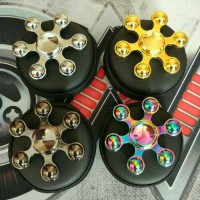 Jual Premium Fidget Spinner Six Ball Side Hand Spinner Murah