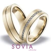 cincin couple tunangan palladium 50% dan emas kuning 75%