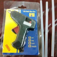 PAKET alat lem tembak + gratis lilin 3 buah (Glue Gun & Glue Stick)