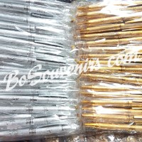 Pulpen Emas - Perak Kemasan Plastik/ Souvenir Pulpen Murah
