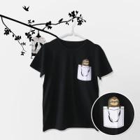 Tumblr Tee / T-Shirt / Kaos Wanita Lengan Pendek Pocket Sloth