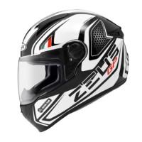 Helm Full Face Zeus 811 GP Hitam Putih