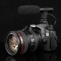 3.5mm Mic Mikrofon Untuk kamera DSLR Studio Stereo Camcorder Rekaman