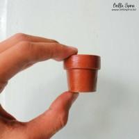 Jual Clay Pot Tiny Terracota Size 3cm Murah