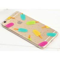 Casing iPhone 6s Es Krim POP Soft Case Softcase Casing Soft Transparan