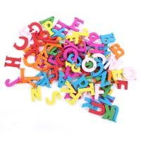 Alphabet Wooden Button - Vowel (Huruf Hidup A,I,U,E,O), Craft, DIY