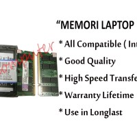 Memori Laptop DDR2 2GB KINGSTON pc2- 6400 Original