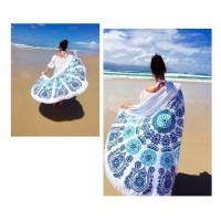 Jual Round Hippie Tapestry Throw Mandala Roundie Beach Towel Yoga Mat Murah