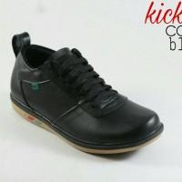 Sepatu Casual Pria Adidas Sneakers No Kickers Kulit Asli Hitam Coklat