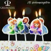 Lilin Ulang Tahun / Ultah Happy Birthday Karakter Princess Putri Sofia