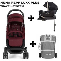 Nuna Pepp Luxx Plus Travel System free transport bag