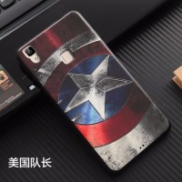 SILIKON SUPERHERO Vivo V3 Y35 soft case back cover casing bumper hp