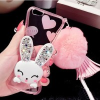 RABBIT DIAMOND Iphone 5 5s SE 6 6s 6+ 6s+ 7 7+ plus case back cover hp